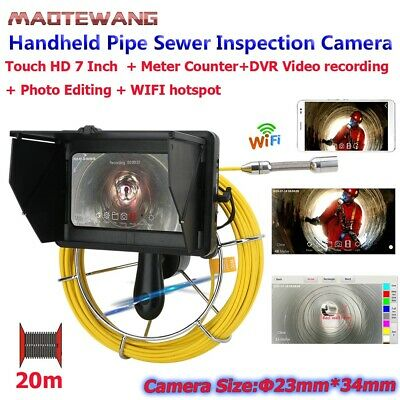 "7"" 20M HD WIFI Wireless Handheld Industrial Pipe Sewer Inspection Video Camera"