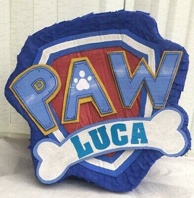 Paw Patrol Inspired Piñata Personalised Party Games Kids Birthday