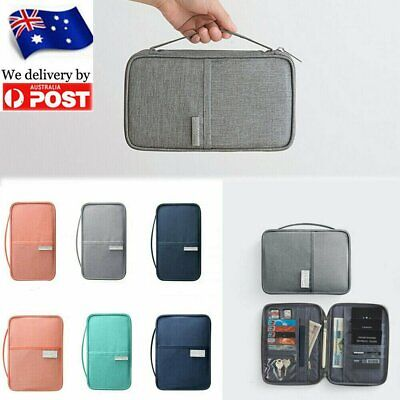 Waterproof Passport Holder Travel Document Wallet RFID Bag Family Organizer MN