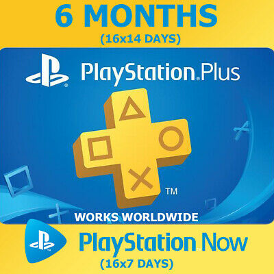 PLAYSTATION PS PLUS 6 Months (16x14) 182 Days PS4 Ps Now (16x7) NO CODE INSTANT