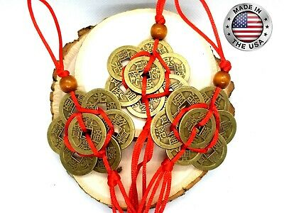Lotus flower Feng Shui Chinese Lucky Coins NEW