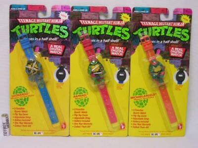 Rare! Teenage Mutant Ninja Turtles Kid's Watch Leonardo Raphael Michelangelo