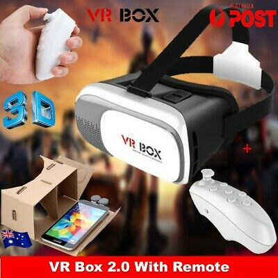 VR Box Headset Virtual Reality 3D Glasses Cardboard For Samsung iPhone Android