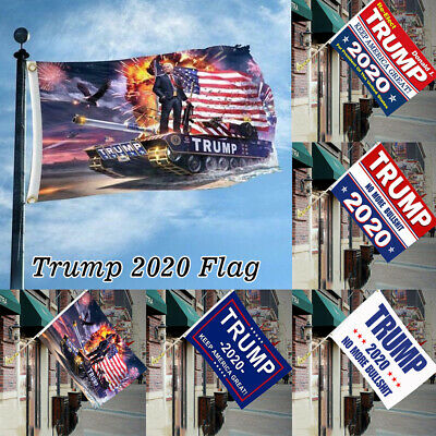 3x5 Ft Donald Trump 2020 Flag Keep America Great No More Bullshit President USA