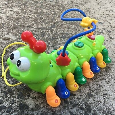 "MEGCO ""Lime Green"" Gorgeous Caterpillar Novelty Shaped Musical Animal Toy"