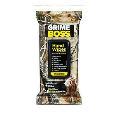Grime BOSS Unscented Field Wipes (24 Count 24 count, Black