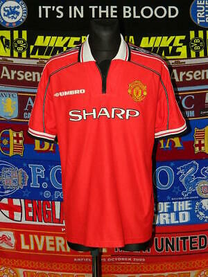 4/5 Manchester United adults XL 1998 #11 Buckle football shirt jersey trikot
