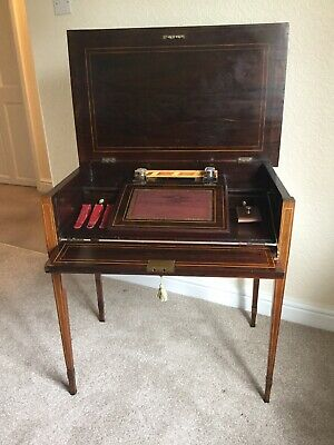 Edward VII inlaid rosewood lady's writing desk