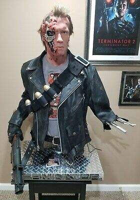 Life Size 1:1 Terminator bust T2 battle damaged stage 5 realistic one of a kind