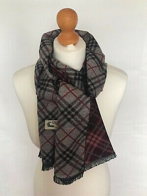 Man Soft Warm Stylish Light Weight Argyle Patterned 100% Cashmere Scarf