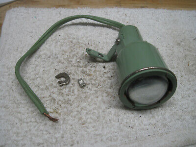 Singer Sewing Machine 185K 185J Green Bakelite Bug Eye Lamp Light Cat S-1