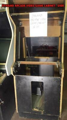 Empty coin operated arcade video game cabinet