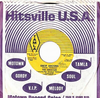 The Miracles Shop Around On The Tamla Stripes Label