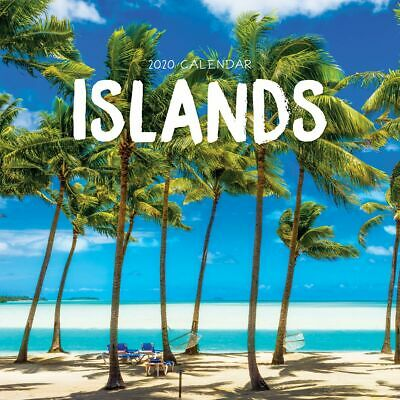 2020 Islands International Square Wall Calendar by Paper Pocket FREE POST