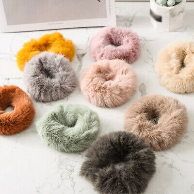 Soft Plush Scrunchie Hair Ring Ponytail Rubber Band Hair Ties Rope for Women