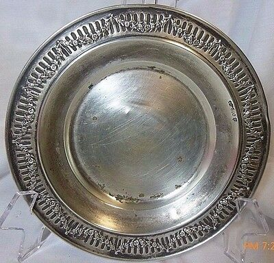 "1900 Antique Vintage Germany Silver Gottieb Kurz Schwabish Gmund Marked 6"" PLATE"