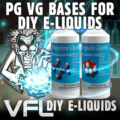 VG I PG VEGETABLE GLYCERINE & PROPYLENE GLYCOL Base Mix DIY E-Liquid Vape 0mg
