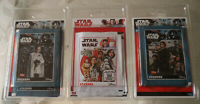 3 blisters pochettes =110 stickers STAR WARS cartes disney(no figurine)ROGUE ONE