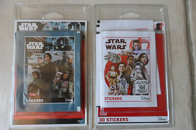 2 blisters pochettes =70 stickers STAR WARS cartes disney (no figurine)ROGUE ONE