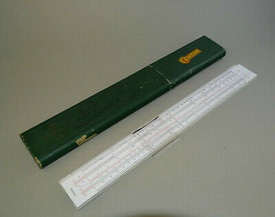 Vintage A. W. FABER CASTELL 111/87 Slide Rule System Rietz , Boxed