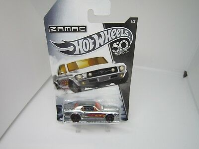 HOT WHEELS '67 FORD MUSTANG COUPE #1/8 ZAMAC 50th ANNIVERSARY