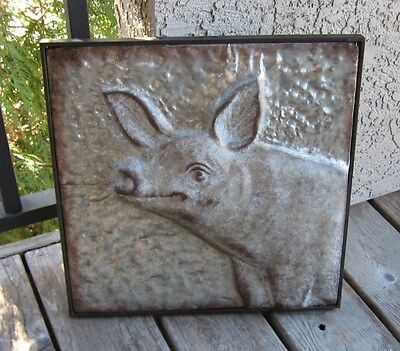 Galvanized Metal PIG Wall Art*Primitive/French Country Home/Farmhouse Decor*NEW!