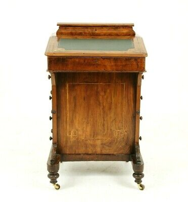 Antique Davenport Desk, Inlaid Burr Walnut Desk, Writing Desk, Victorian, B1557