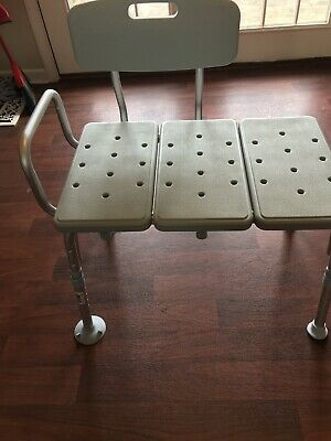 Bath Bench Or Shower Chair Handicap Stool With Back And Arm Bathtub For Elderly