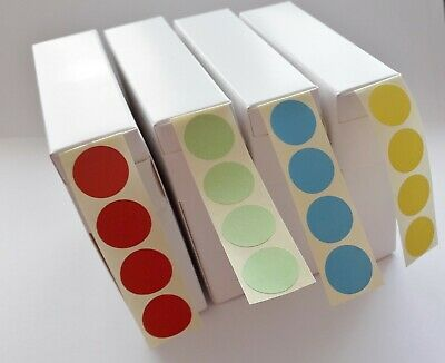 1,000 Coloured Stickers 16Mm Dia. Self Adhesive Colour Code Round Sticky Labels