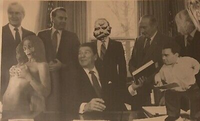 A Republican Nightmare From 1986 Black & White Photomontage Outsider Artwork