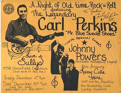 CARL PERKINS SUN RECORDS ORIGINAL handbill 8.5x11 VINTAGE  Rockabilly JOHNNY