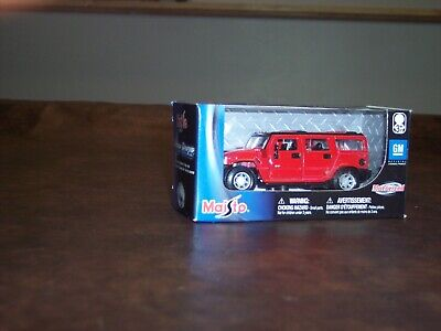 Maisto - Hummer H2 - Maisto - Red - (Htf) - 1/36 Scale  - Power Racer - New