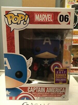 Funko POP! Marvel Captain America #06 2017 SDCC Summer Convention Exclusive