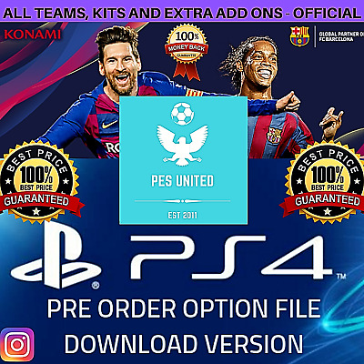 Pro Evolution Soccer 2020 Pre Order Official Option File Ps4 - Launch Day +++!