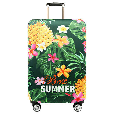 Tropical Pineapple Travel Elastic Luggage Bag Suitcase Dustproof Cover Protector