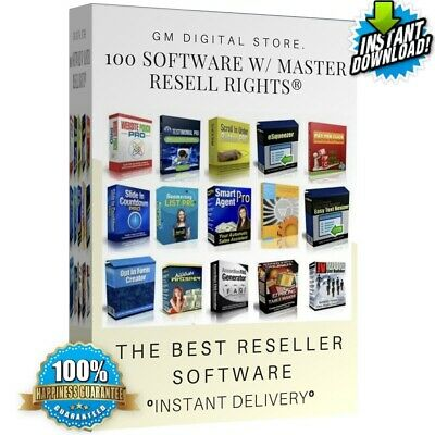 "100 Software W/ Master Resell Rights- ""instant Delivery """