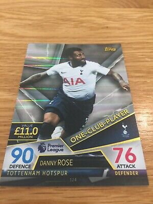 Match Attax Ultimate 2018/19 Danny Rose One-Club Player No 124 Mint