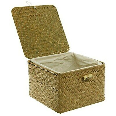 MyGift Brown Hand Woven Rattan Home Storage Basket/Decorative AX-AY-ABHI-93644