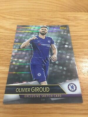Match Attax Ultimate 2018/19 Olivier Giroud Exclusive Sketch Card No 136 Mint