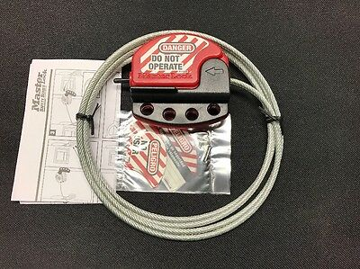 Masterlock S806 1.8m 6ft Lockout Adjustable Cable S806CBL6 Master Lock Safety