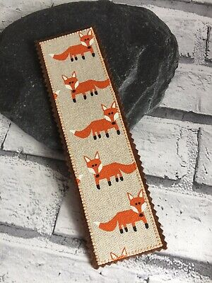 Fox Bookmark Fox Fabric Autumn Reading Gift Hand Crafted