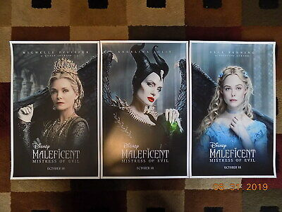 "Maleficent:  ( 11"" X 17"" ) Movie Collector's Poster Prints ( Set of 3 )"