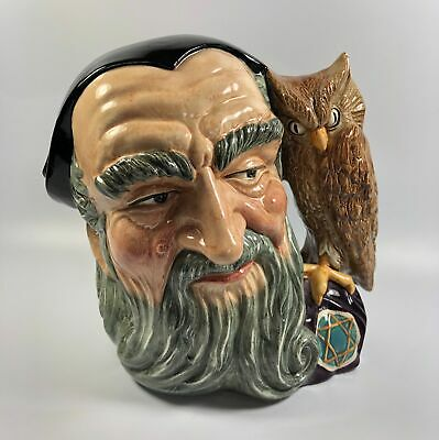 Large Royal Doulton Character Jug Figure 'Merlin' Wizard D6529 18.5cm Height