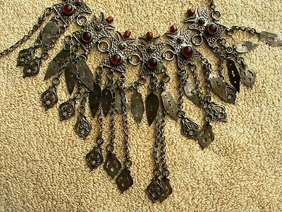 Antique. Handmade Necklace. Greek and Balkans. Low Content Silver.