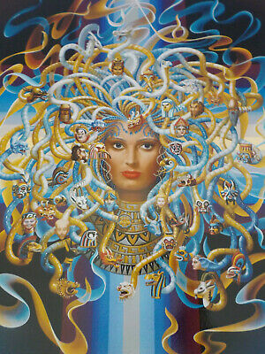 "Enchanting Ilene Meyer L/E, Signed Silkscreen, ""Medusa"", Coa, Ridiculous Price!"