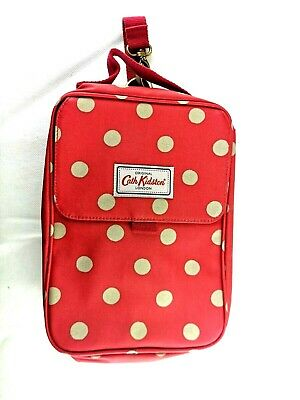 Cath Kidston Baby Nappy Changing Mat Bag Portable Travel Red Polka Dots
