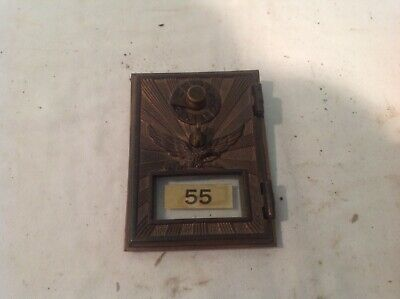 Antique Vintage U.S. Post Office Mail Box Door Brass Eagle  CBF's 1216