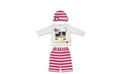 OLIVE /& MOSS BABY GIRLS BETTY THE BUNNY PINAFORE DRESS /& PANTS SET 0-24 MONTHS