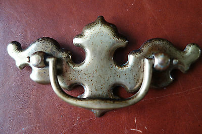 "Vintage Aged Keeler Brass 4 1/2"" L Chippendale Furniture Drawer Pull Handle"