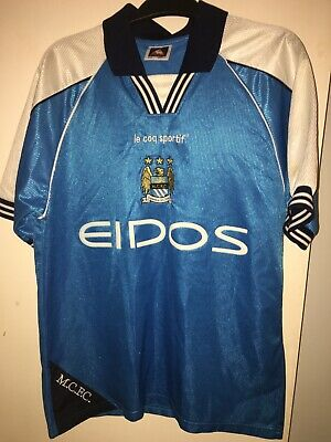 Manchester City shirt 1999/01 Small Home le coq sportif